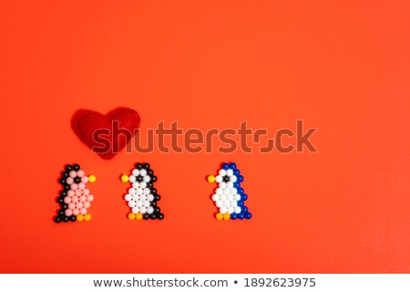 Stock photo: Heart made of children's toys