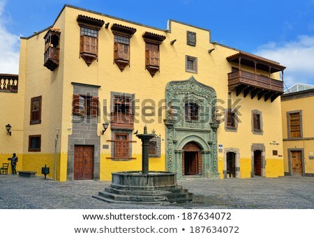 Columbus House Las Palmas Gran Canaria Stock photo © lunamarina