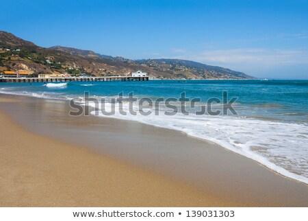 Pier at Malibu Lagoon California Stock photo © backyardproductions