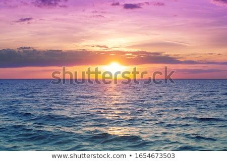 Piękna wygaśnięcia Świt niebieski morza ocean Zdjęcia stock © lunamarina