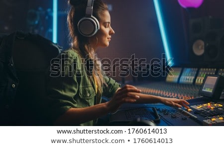 Portrait of DJ mixing music Stock photo © zzve
