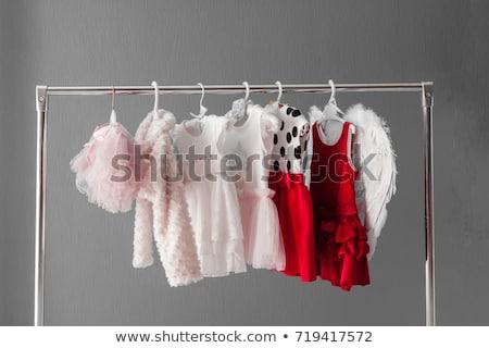 Angelo rosso abbigliamento bianco sorriso cuore Foto d'archivio © Elnur