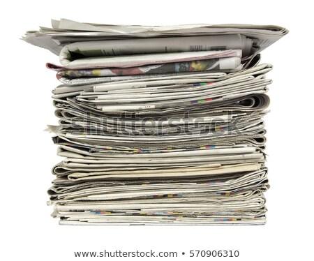 Kranten macro shot menselijke Stockfoto © deyangeorgiev