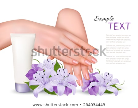 Beautiful woman with lilly flower. Stock photo © Nejron