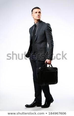 Portrait affaires sac isolé blanche Photo stock © deandrobot