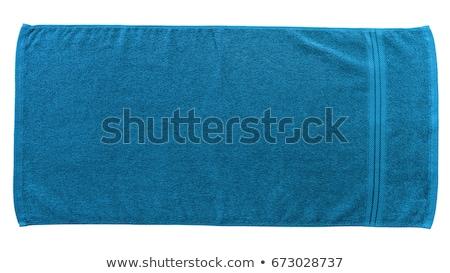 toalhas · starfish · três · azul · amarelo - foto stock © ivonnewierink