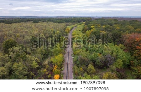 Railway Over Farm Land Foto stock © FrimuFilms