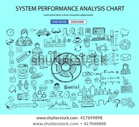 System Performance Analisys concept wih Doodle design style Stock photo © DavidArts