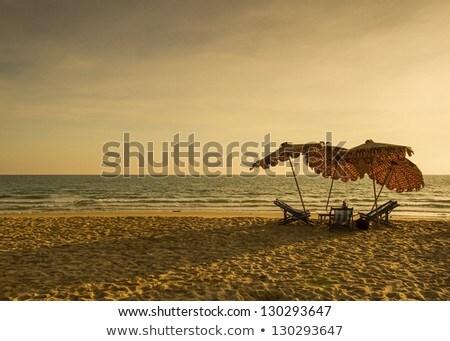 Beach Shoreline at Sunrise Stock photo © enterlinedesign