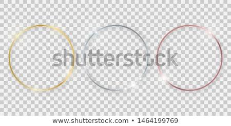 preto · amarelo · contraste · círculos · projeto · vetor - foto stock © saicle
