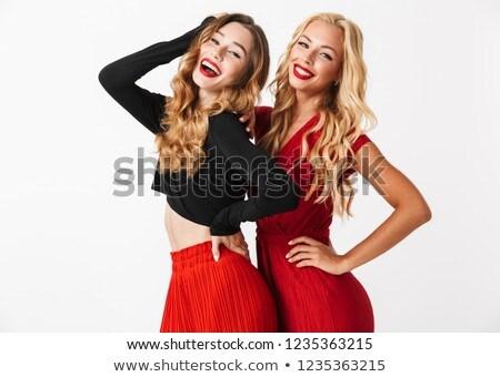 Foto stock: Dois · bastante · jovem · inteligente · meninas