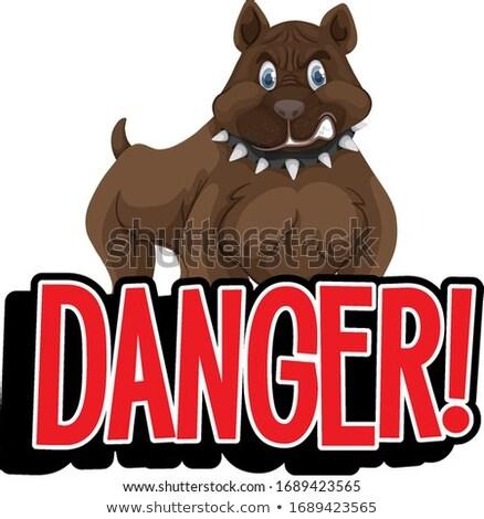 言葉 デザイン 危険 犬 実例 フレーム ストックフォト © bluering