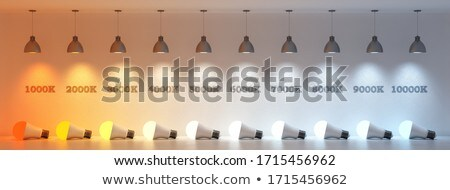 LED bulb with warm white color temperature Stock photo © magraphics