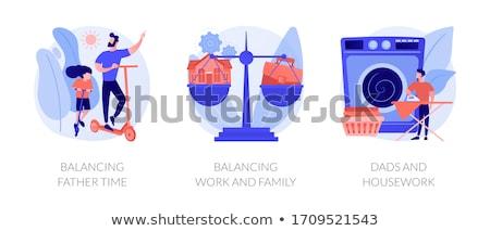 家事 抽象的な お父さん ホーム ストックフォト © RAStudio