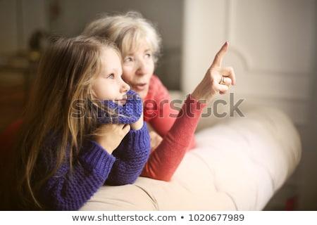 abuelo · jugando · nietos · casa · feliz · nino - foto stock © photography33