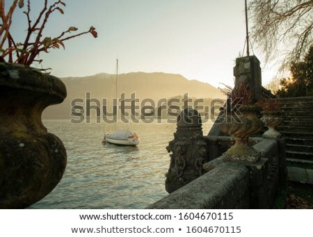 Stock photo: Sailing near the coast