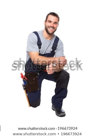 Builder kneeling Stock photo © photography33