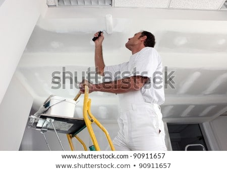 Stock photo: tradesperson painting