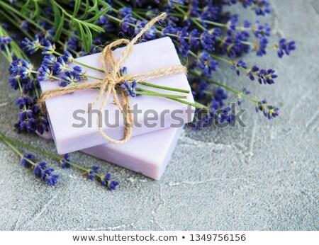 Soap And Lavender Flower Stock fotó © almaje