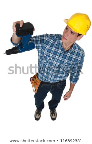 A construction worker sad about his broken drill. Stock photo © photography33