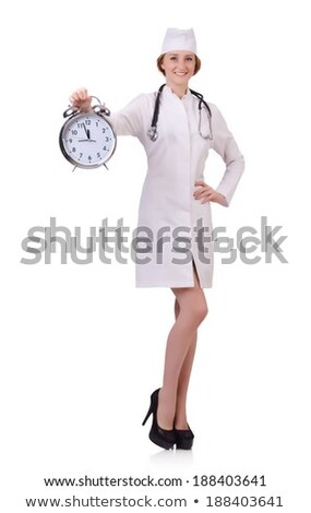 doctor auscultating  alarm clock Stock photo © photography33