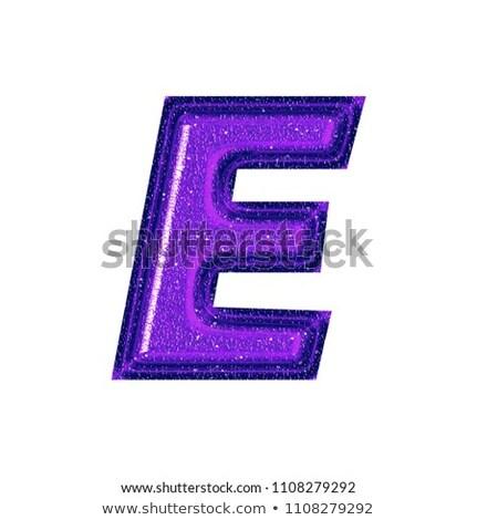 Alphabet Glass Shiny with Sparkles on Background Letter E Stock photo © gubh83