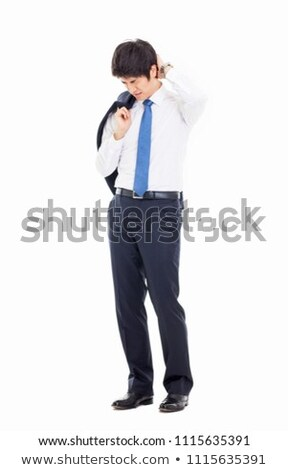Portrait of a unhappy young businessman  Stock photo © luckyraccoon