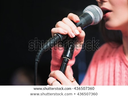 Close-up of woman singing song Stock photo © zzve