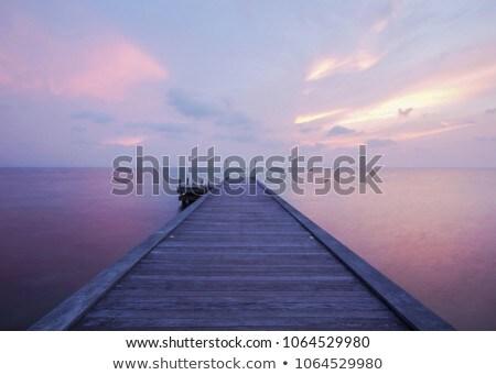 Sunset silhouette Bridge stock photo © chatchai