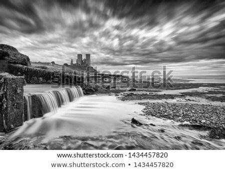 Towers akşam karanlığı son gün bulutlar kilise Stok fotoğraf © smartin69