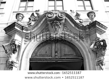 traditional wooden door in the town slovakia stock photo © master1305
