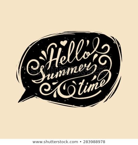 word summer invitation card, chalk drawings, summer holiday Stock fotó © fotoscool