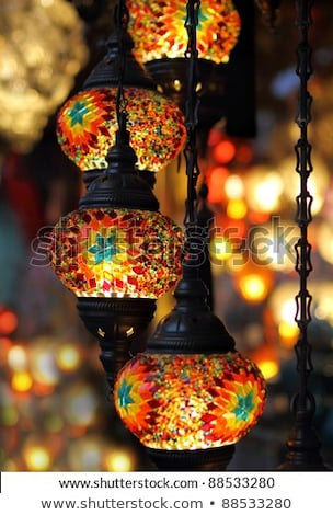 multi color vintage hanging light lamp stock photo © nalinratphi