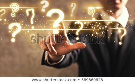 Businessman with question mark Stock photo © andreasberheide
