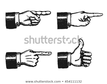 Vector Businessman Hand Icon - Showing Sign Pointing Finger Shows Up Right Direction Back Of The H Stock photo © benchart