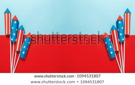 Cartoon Firework Waving Stock photo © cthoman