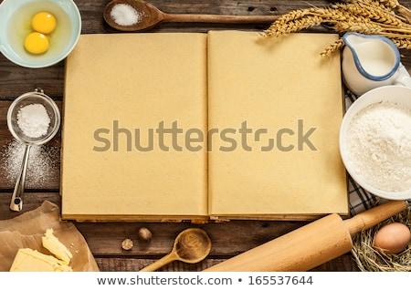 cocina · ingredientes · cocina · herramientas · blanco · alimentos - foto stock © dash