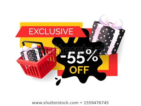 Shopping Products Sellout 55 Off Price Banner Stock photo © robuart