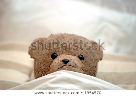 Close-up of teddy bear on a bed in bedroom at home Stock photo © wavebreak_media