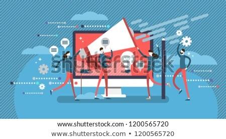 Company public relations abstract concept vector illustrations. Stock photo © RAStudio