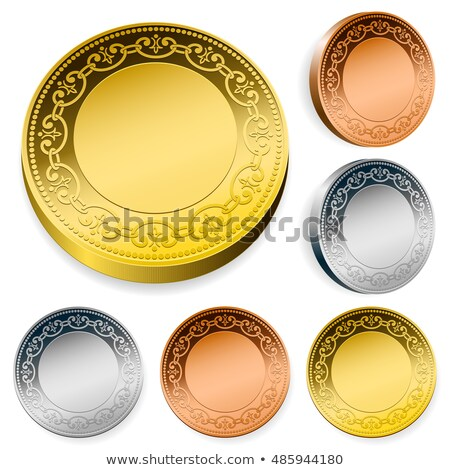 blank shiny token coins set with copy space Stock photo © adrian_n