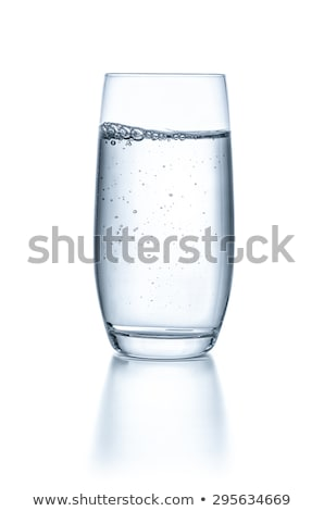 Water On Glass Isolated On White Background Photo stock © Zerbor