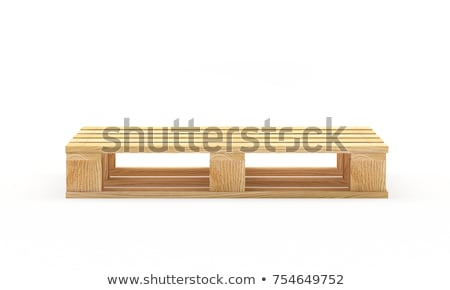 Stock photo: Wooden pallets isolated on white background