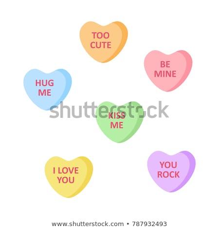 Coeur violette vecteur icône design amour Photo stock © rizwanali3d