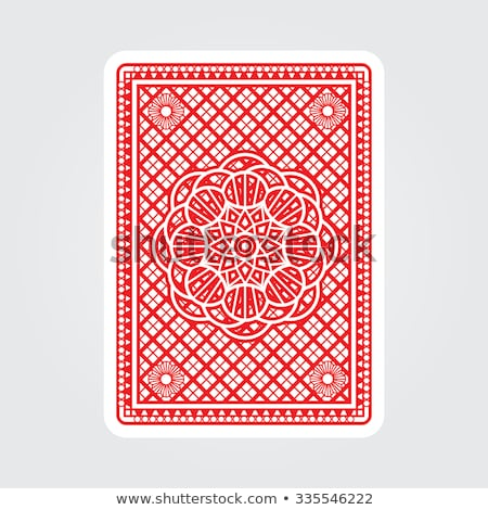 Playing Card Reverse Back in Red and Blue Stock photo © Krisdog