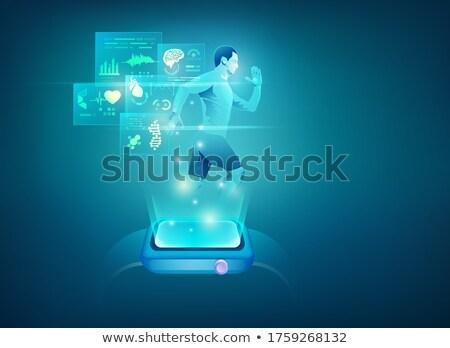 Smartwatch health tracker concept vector illustration. Stock photo © RAStudio