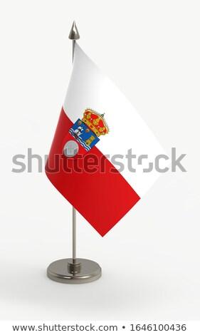 Cantabria flag Stock photo © grafvision