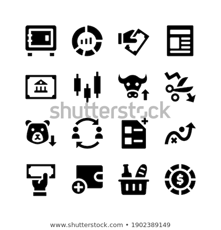 Pie Chart related vector glyph icon. stock photo © smoki