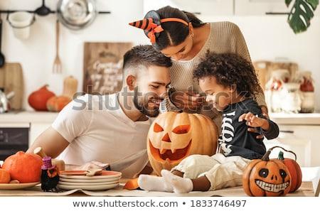 Crianças abóbora bonitinho pequeno crianças meninas Foto stock © choreograph