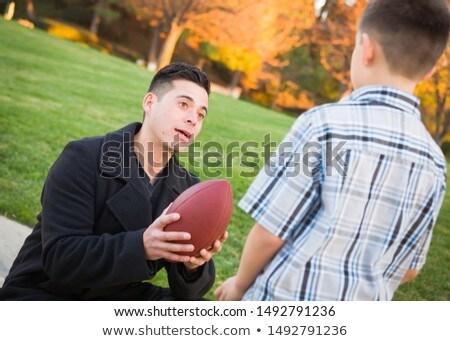 retrato · parque · futebol · crianças · criança - foto stock © feverpitch